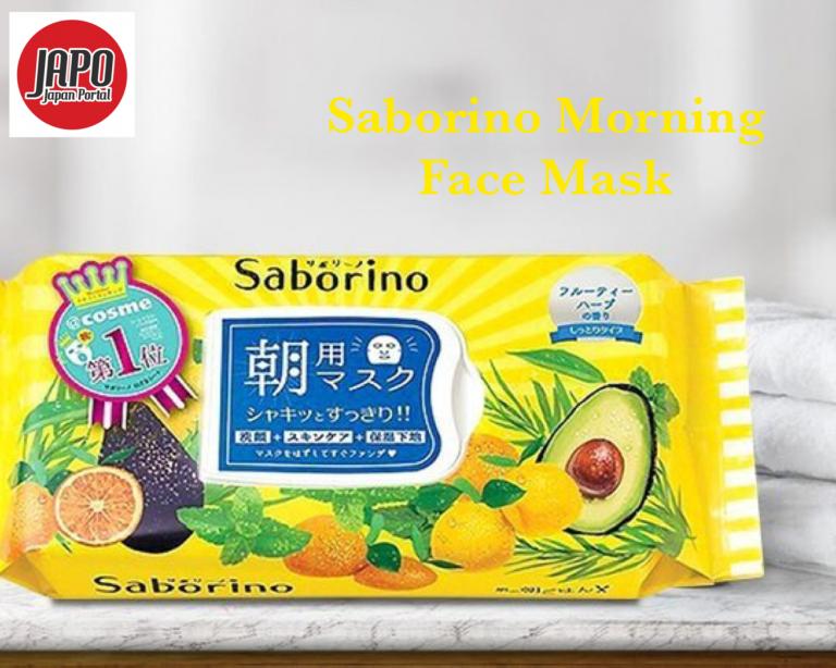 ម៉ាសមុខ Saborino Morning Face Mask មាន ៣២ សន្លឹក
