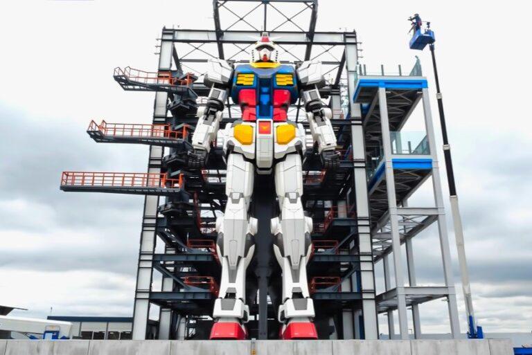 មនុស្សយន្ត Gundam សម្ពោធនៅកំពង់ផែយូកូហាម៉ាជិតទីក្រុងតូក្យូ